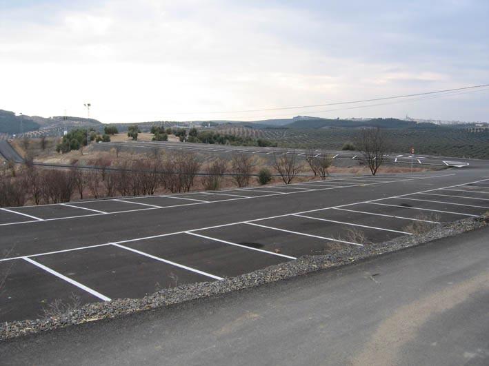 Campo de tiro canchas y aparcamiento